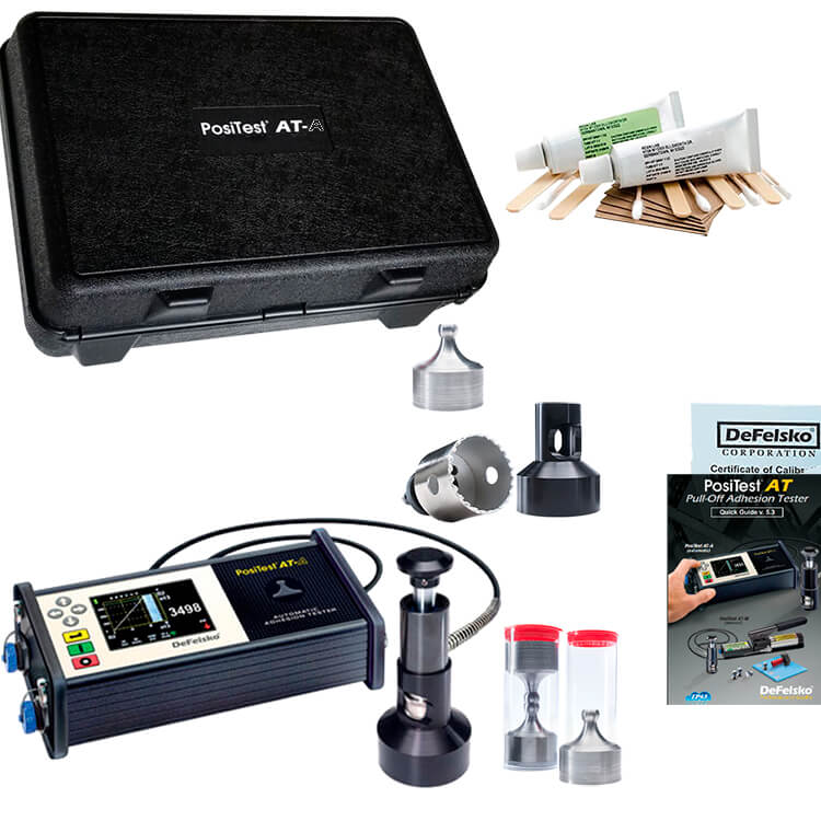 DeFelsko ATA50C PosiTest AT-A Automatic Pull-off Adhesion Tester 50mm Dollies C1583 Kit ATA50C-B