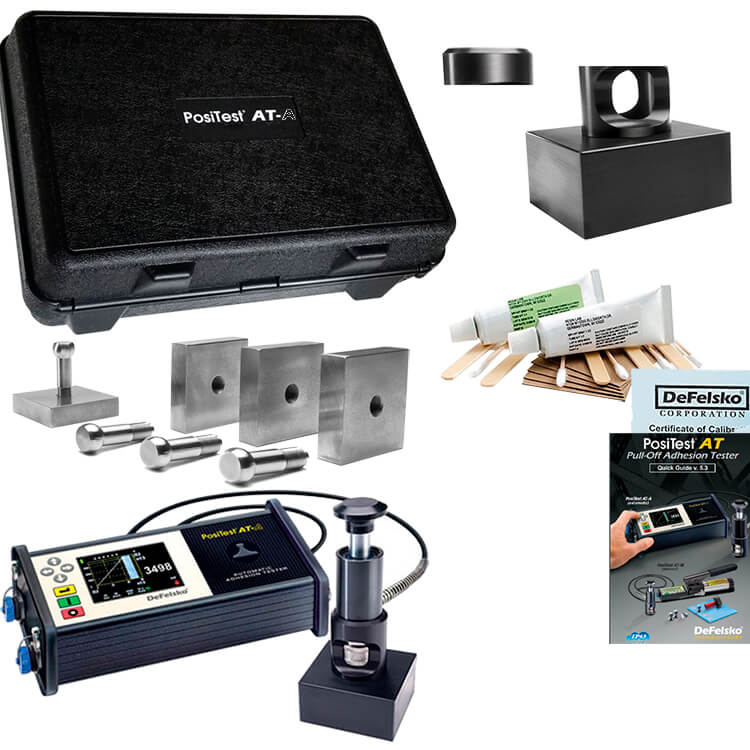 DeFelsko ATA50T PosiTest AT-A Automatic Pull-off Adhesion Tester 50x50mm Dollies Tile Kit ATA50T-B