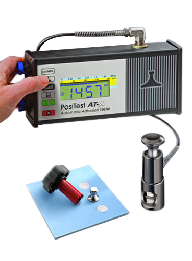 PosiTest ATA50 Automatic Pull-Off Adhesion Tester with 50mm dollies (8), cutting tool and stand off ATA50A-B
